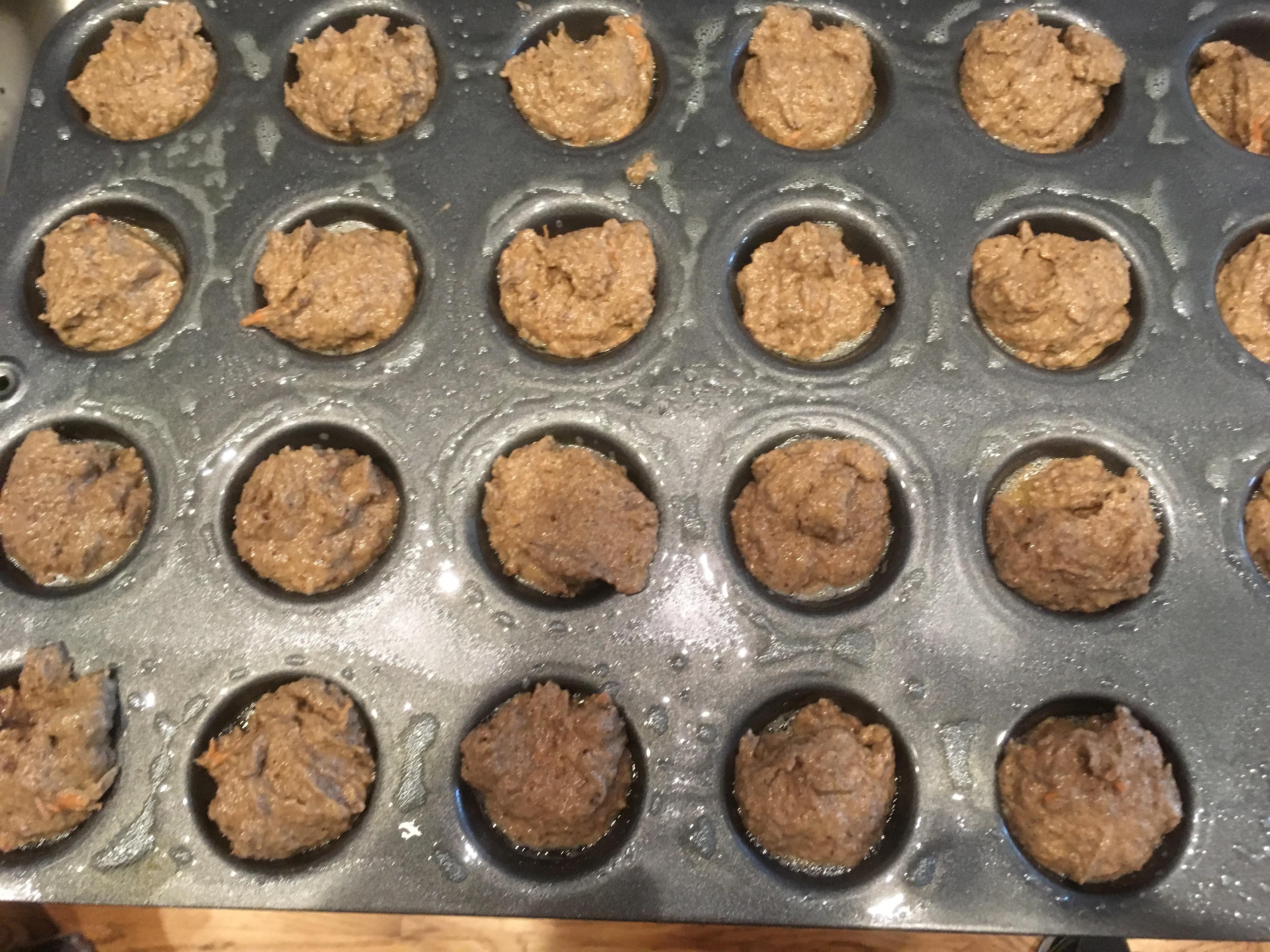 Banana pup muffins