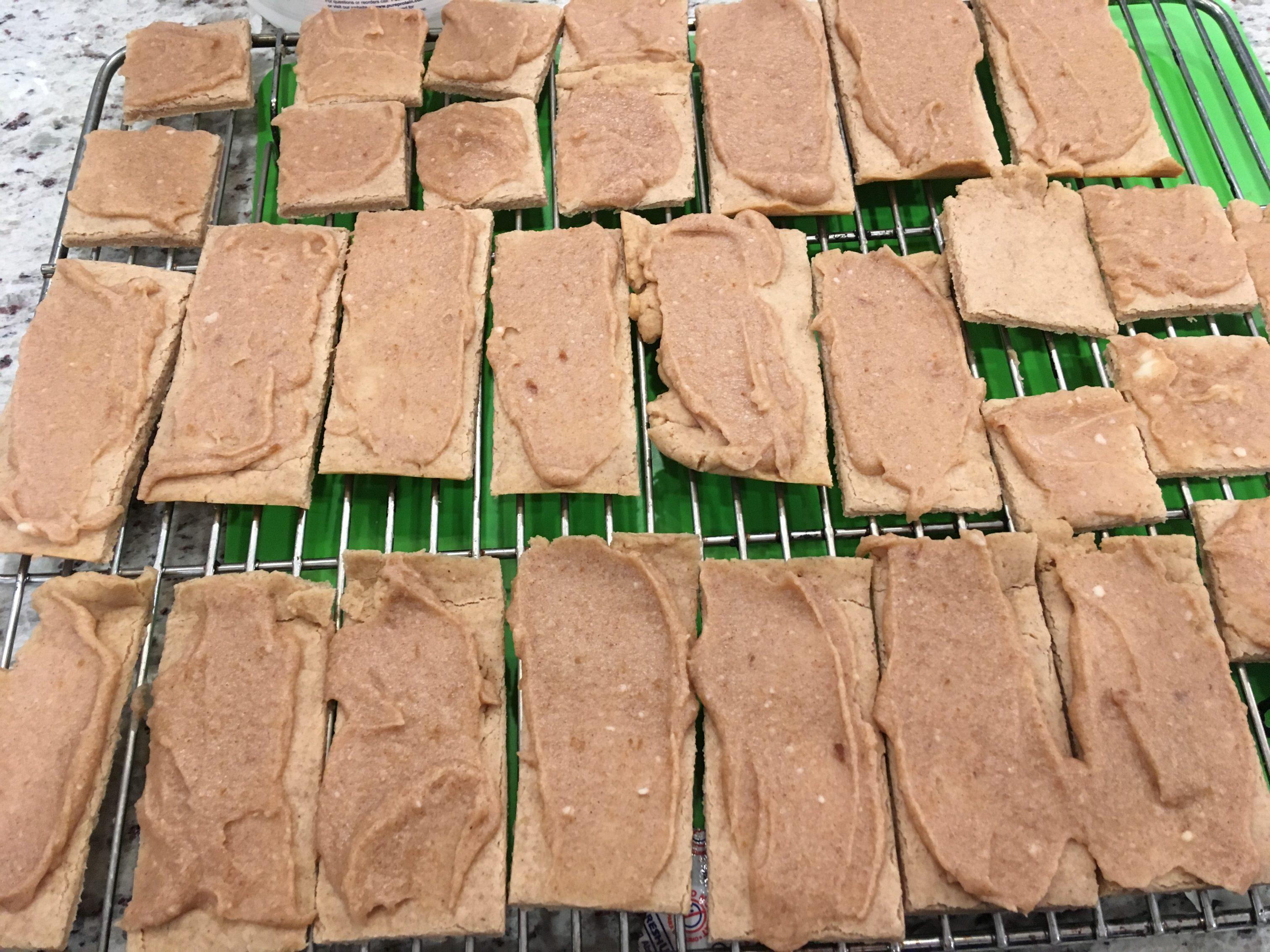 Glazed Apple Butter Shortbread Bars