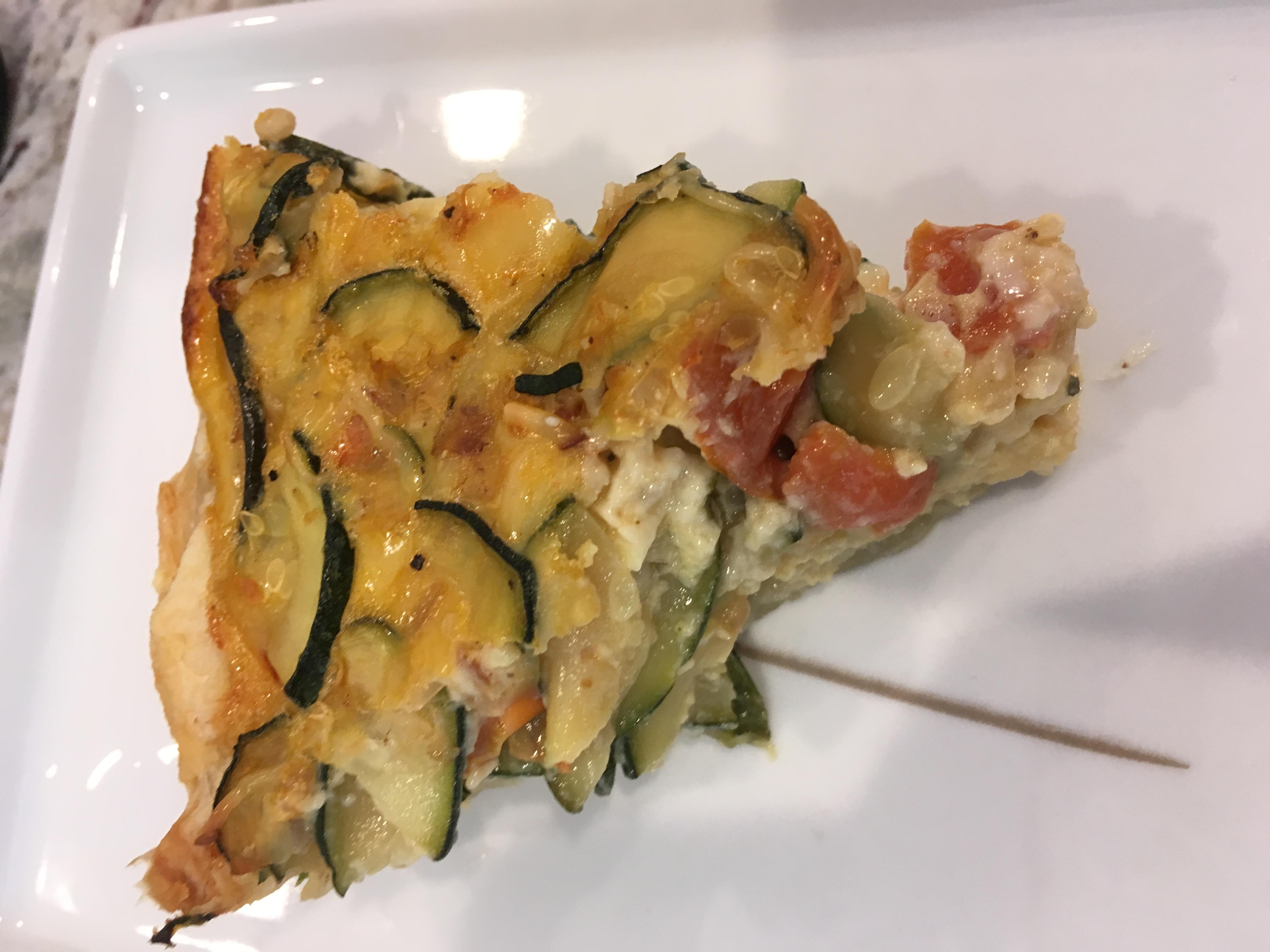 Easy Zucchini, Tomato, and Cheese Tart