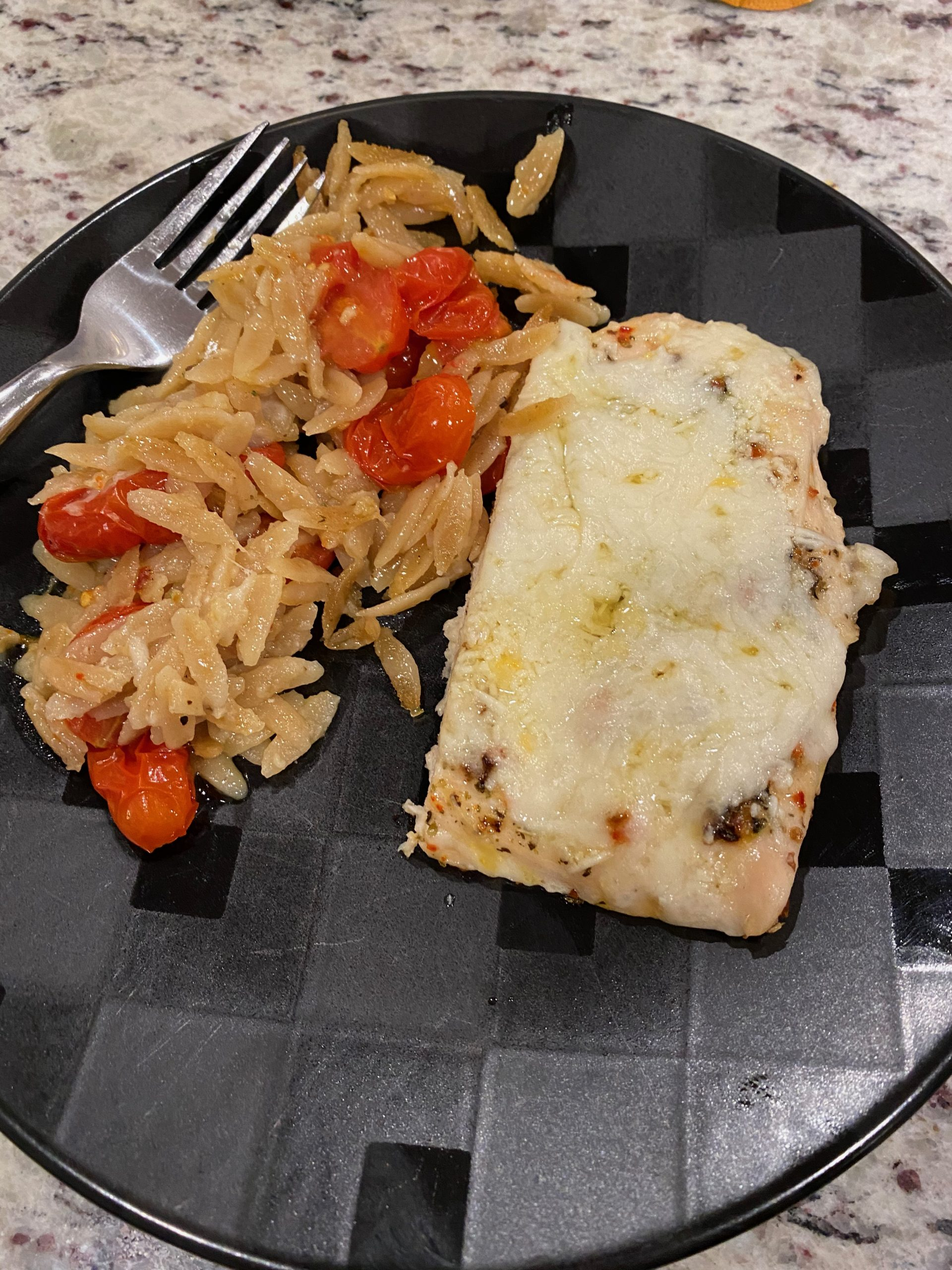 Garlic-Butter Orzo Chicken Casserole